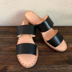 FRANCO SARTO Kiki leather slide sandals SZ 6.5